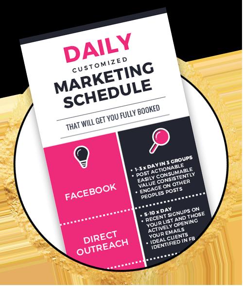 Christina Jandali Daily marketing schedule graphic