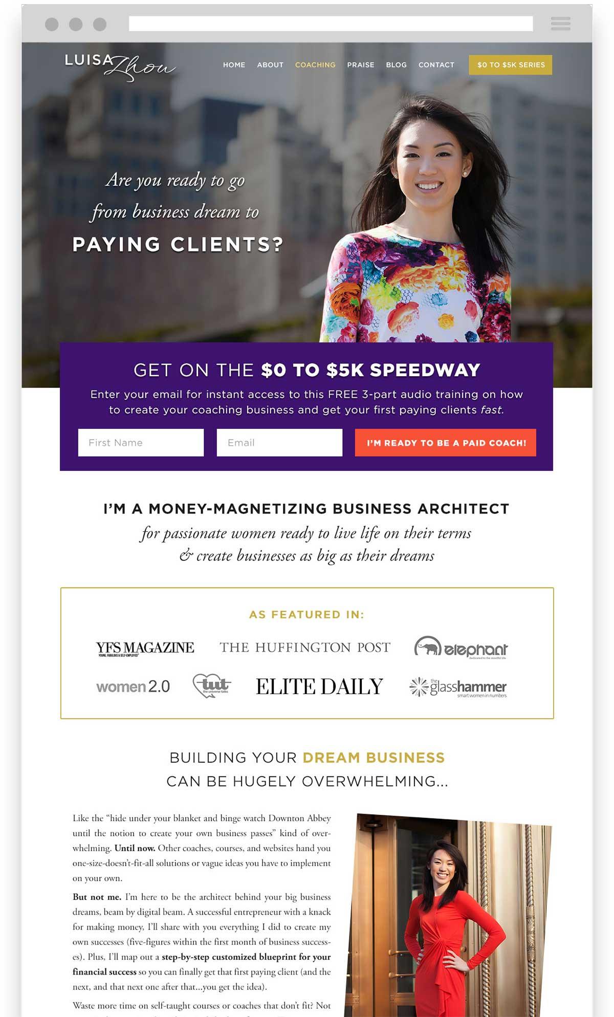 Luisa Zhou website design